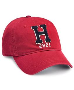 $122 TOMMY HILFIGER MEN'S RED DAD CAP 'H' BASEBALL HAT STRAP