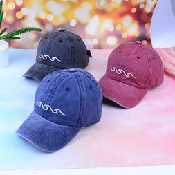 1xadjustable dad hat women men sea wave