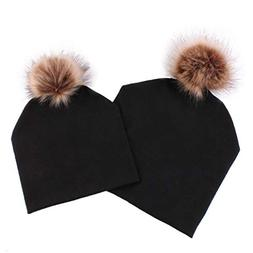 Winsummer 2 Pack Winter Warm Hats Parent-Child Hat Warmer Mo