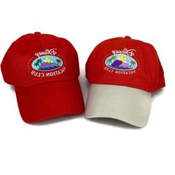 2 Disney Vacation Club Member Hats Red Cap Mickey Mouse Logo