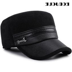 2019 Wholesale Winter Cap Men Pu Leather <font><b>Baseball</