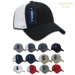 50 LOT DECKY 6 Panel Low Crown Mesh Golf Dad Caps Hats Whole