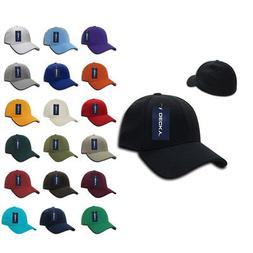 50 LOT Decky FitAll Flex Fitted Baseball Dad Caps Hats 2 Siz
