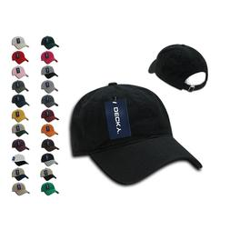 1 Dozen DECKY Washed Cotton Polo Low Crown 6 Panel Dad Caps
