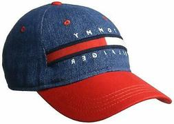 Tommy Hilfiger Men's Dad Hat Avery, Denim/Racing red, O/S