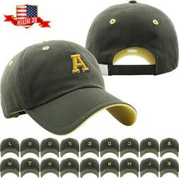 ABC Letter Embroidery INITIAL Olive Dad Hat Baseball Cap Adj e5d6c94f798d