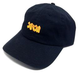 AC/DC ROCK AND ROLL BAND TEXT LOGO CURVED BILL DAD HAT CAP A