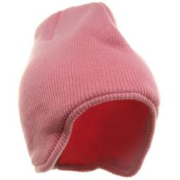 83fca97a5b8 Acrylic Solid Knit Beanies-Pink