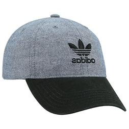 adidas Men's Originals Relaxed Strapback Cap, Blue Chambray/