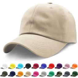 Mens Adjustable Cotton Baseball Caps Dad Hat Washed Ball Cap
