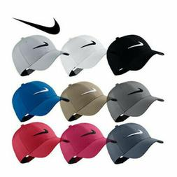Adult Nike Golf Hat Legacy91 Dri Fit Tech Logo Cap Hat Black