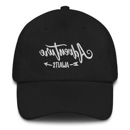 Adventure Awaits Embroidered Dad Hat Outdoors Wilderness Cam