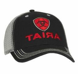 ariat mens black and grey with red