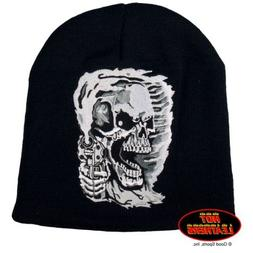 Hot Leathers Assassin Killer Skull and Gun Beanie Knit Cap