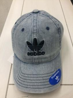 Authentic Adidas Spell Out Trefoil Logo Acid Wash Denim Dad