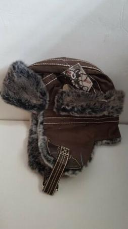 City Hunter Authentic Winter Solid Brown Trapper Hat Cap Fau