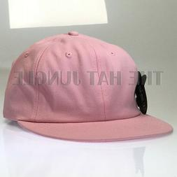 BABY PINK Plain Unstructured Dad Hat Buckle Strap Cap Flat B