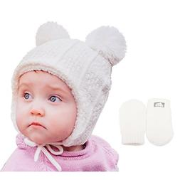 Baby Toddler Warm Fall Winter HAT & Mitten Fleece Lined Unis