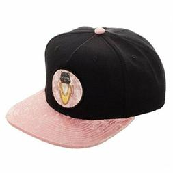 Bioworld Bananya Sublimated Bill Embroidery Snapback Hat Bla