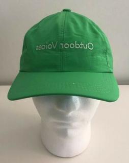 OUTDOOR VOICES BASEBALL CAP DAD HAT GREEN NYLON ASPEN COLORA