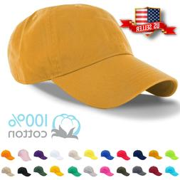 Baseball Cap Plain Mens Cotton Adjustable Solid Dad Hat Polo
