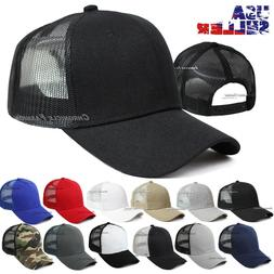 Trucker Hat Mesh Back Baseball Snapback Cap Adjustable Curve