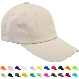 Baseball Hat Cap Cotton Dad 1-48pcs Wholesale Washed Plain S