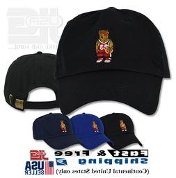 Basketball Teddy Cap Embroidery Embroidered Adjustable Dad H