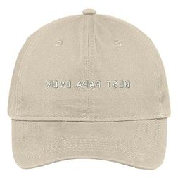Trendy Apparel Shop Best Papa Ever One Line Embroidered Soft