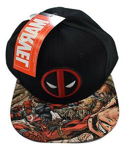 Bioworld Marvel Deadpool Mens Flat Comic Bill Brim Snapback