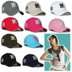 White Womens Girls NY New York Yankees Hats Sports Baseball