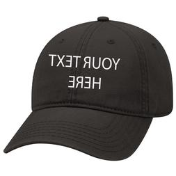 Black Dad cap Customized and personalized Embroidery with an