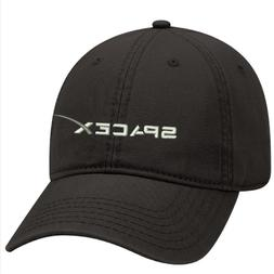 Black Dad cap Customized with SPACE X  embroidery design.