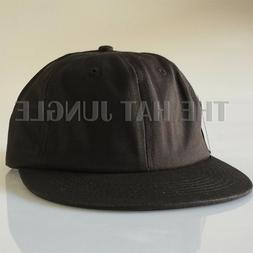 Plain Unstructured Dad Hat Buckle Strapback Cap Flat Bill L