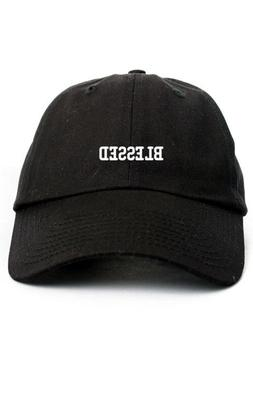 Blessed Custom Unstructured Dad Hat Baseball Cap New-Black