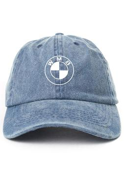 BMW Custom Unstructured Denim Dad Hat Cap Baseball Headwear