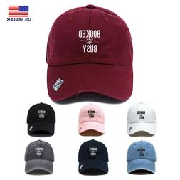 Booked & Busy | Dad Hat Cotton Baseball Cap Polo Style | Low