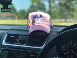 Brand New Custom Dad Hats for breast cancer awareness