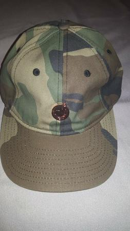 YUMS CAMP METAL FACE ADULT UNISEX CAMO STRAPBACK DAD HAT NEW