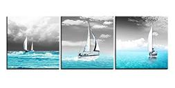 Canvas Print Wall Art Painting For Home Decor Tropical Blue