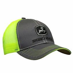 John Deere Mens Cap Charcoal and Neon