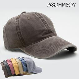 Casual Men Cotton Solid Baseball Cap Vantage Women Baseball