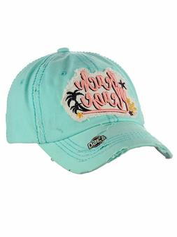 Ceci® Womens Baseball Cap Distressed Vintage Unconstructed