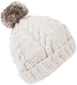 Nirvanna Designs CH702 Rope Beanie with Fleece and Faux Fur