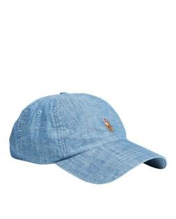POLO RALPH LAUREN Chambray Sports Cap Dad Hat POLO Embroider 02857e3c27f5
