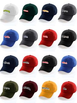 Classic Unstructured USA Cities Baseball Dad Hat 3D Raised P