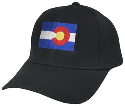Colorado CO State Flag Curved Bill Adjustable Baseball Cap C
