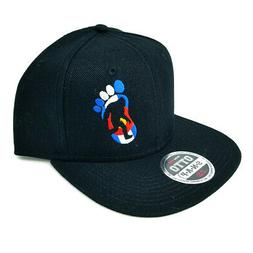 Colorado Flag Big Foot Silhouette Flat Six Panel Pro Style S
