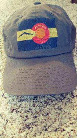 Colorado Flag Hat--Charcoal Gray