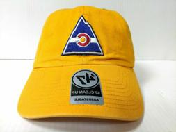 Colorado Rockies 47 Brand Cap Adjustable Yellow Clean Up Dad
